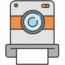 camera, device, picture, polaroid, vintage icon
