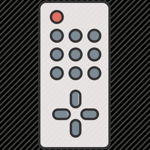 control, device, entertainment, remote, television, video icon