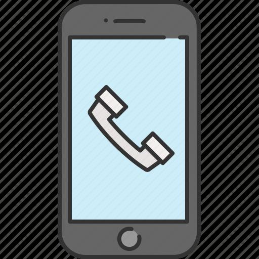 call, communication, device, phone, smart, technology icon