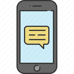 chat, communication, device, message, phone, smart, text icon