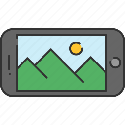 device, gallery, image, phone, smart, technology, view icon