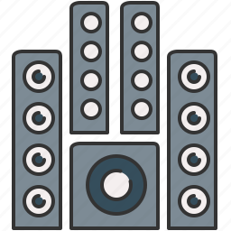 audio, device, music, sound, speakers, system icon