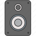 audio, device, music, sound, speaker, video icon