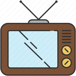device, old-fashioned, screen, television, vintage icon