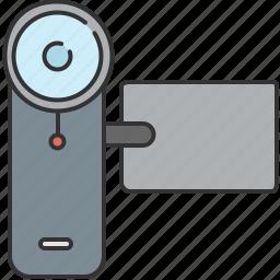 camera, device, film, lense, recorder, video icon