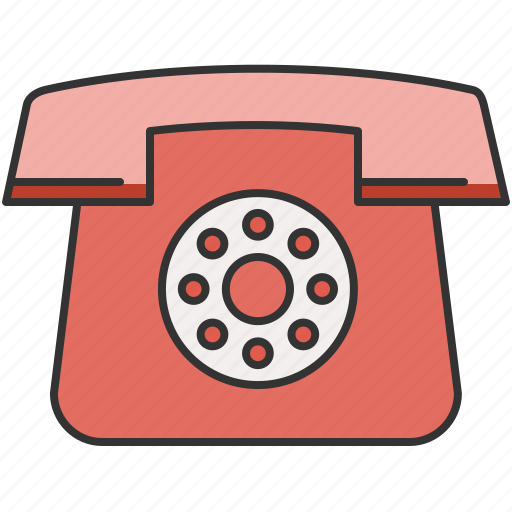 communication, device, home, phone, vintage icon