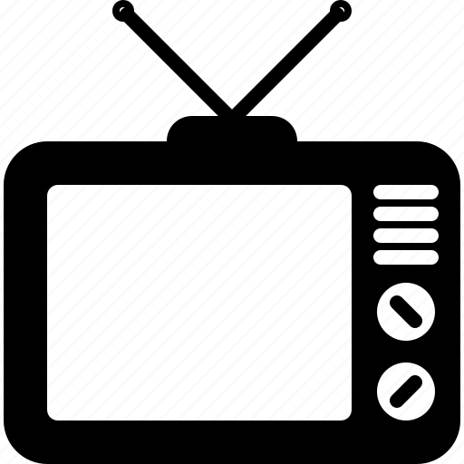 device, movie, screen, television, video, vintage icon