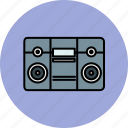 audio, boombox, device, entertainment, music, sound icon