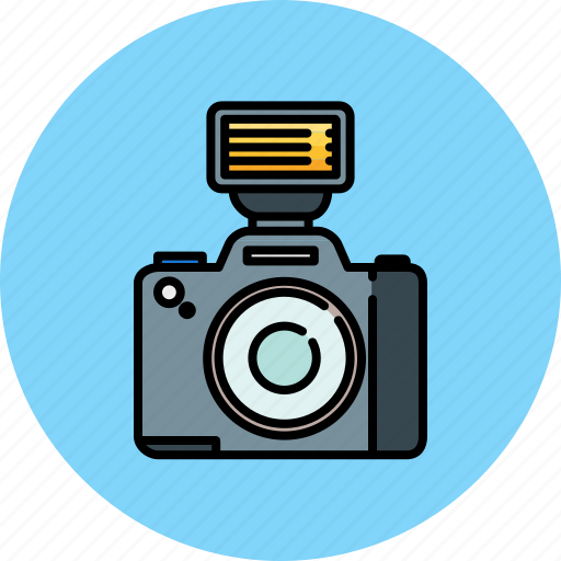 camera, device, flash, image, picture icon