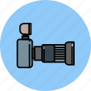 camera, device, flash, image, lense, picture icon
