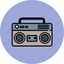 cassette, device, entertainment, music, player, sound icon