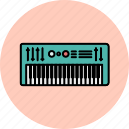 audio, device, entertainment, keyboard, music, sound icon