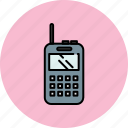 communication, device, mobile, phone, walkie talkie icon