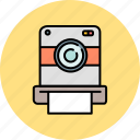 camera, device, image, picture, polaroid, vintage icon