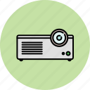 device, entertainment, movie, projector, watch icon