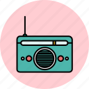 audio, device, entertainment, music, radio, sound icon