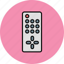 control, device, entertainment, remote, television icon