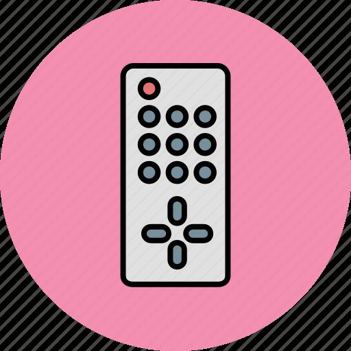 control, device, entertainment, remote, television icon