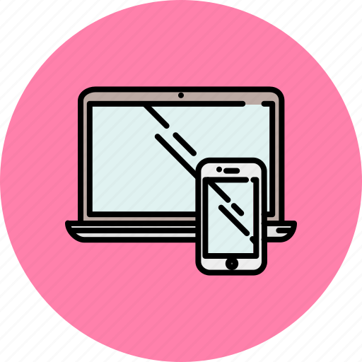 computer, device, laptop, phone, smart, technology icon