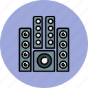 audio, device, entertainment, music, sound, system icon