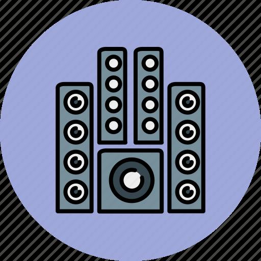 audio, device, entertainment, music, sound, system icon
