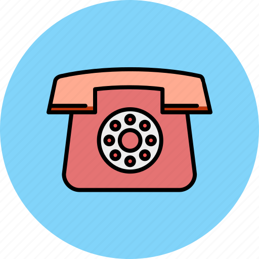 call, communication, contact, device, home, phone, vintage icon