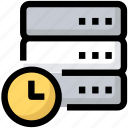 data, database, device, schedule, server icon