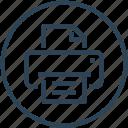 device, fax, paper, print, printer icon
