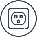 america, device, electric, electricity, socket icon