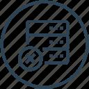 data, database, delete, device, server icon