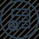 data, database, device, server, settings icon