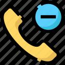 call, device, handset, phone, remove icon
