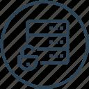 data, database, device, protection, server, unlock icon