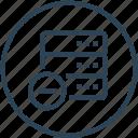 data, database, device, rack, remove, server icon