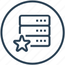 data, database, device, favorite, server icon