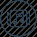 album, device, media, music, note icon