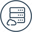 cloud, data, database, device, server icon