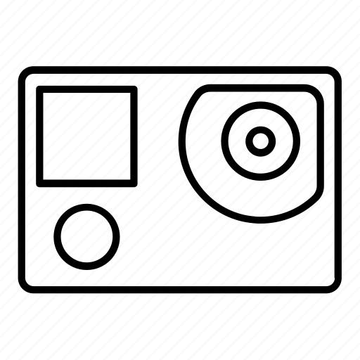 camera, digital, gopro, hero4, video icon