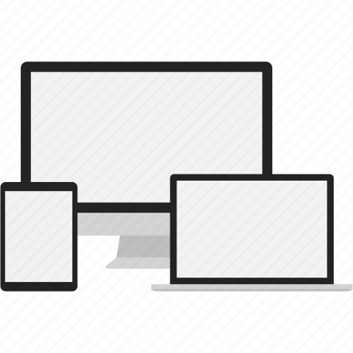 computer, devices, laptop, responsive, tablet icon