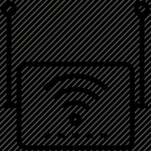 device, internet, router, wi-fi icon icon