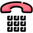 call, device, dial, handset, phone, telephone icon