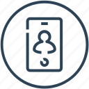account, call, device, mobile, phone, smartphone icon