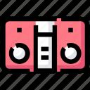 center, device, music, recorder, speaker icon