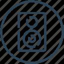 audio, device, music, speaker, woofer icon
