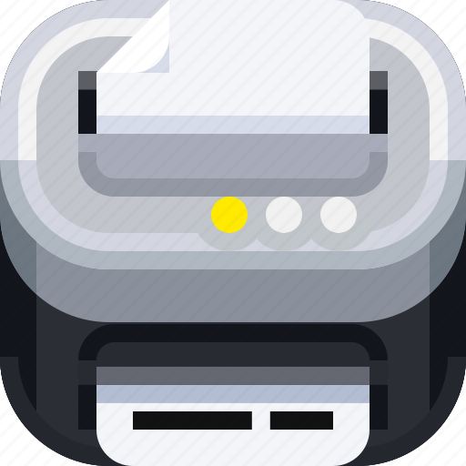 archive, business, devices, document, ios, office, printer icon