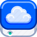 cloud, devices, internet, ios, storage, technology icon