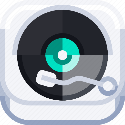 art, devices, entertainment, ios, music, party, turntable icon