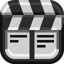actor, art, clapboard, devices, director, ios, movie icon