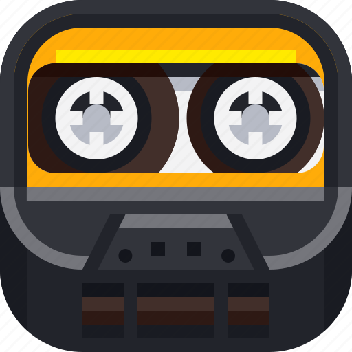 cassette, devices, entertainment, ios, music, retro, sound icon