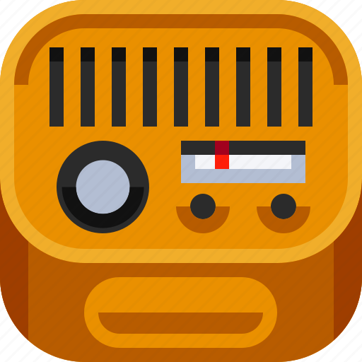 broadcast, communications, devices, ios, radio, retro, technology icon